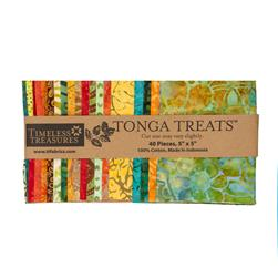 "Tonga Batik Punch Treat 5"" Squares Assortment"