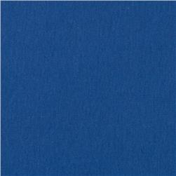 Cotton Baby Rib Knit Prussian Blue Fabric