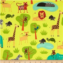 Jungle Party Animal Collage Bermuda