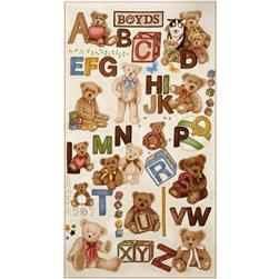 Boyds Bears ABC 24 In. Panel Multi