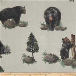 Black Bear Fleece Grey
