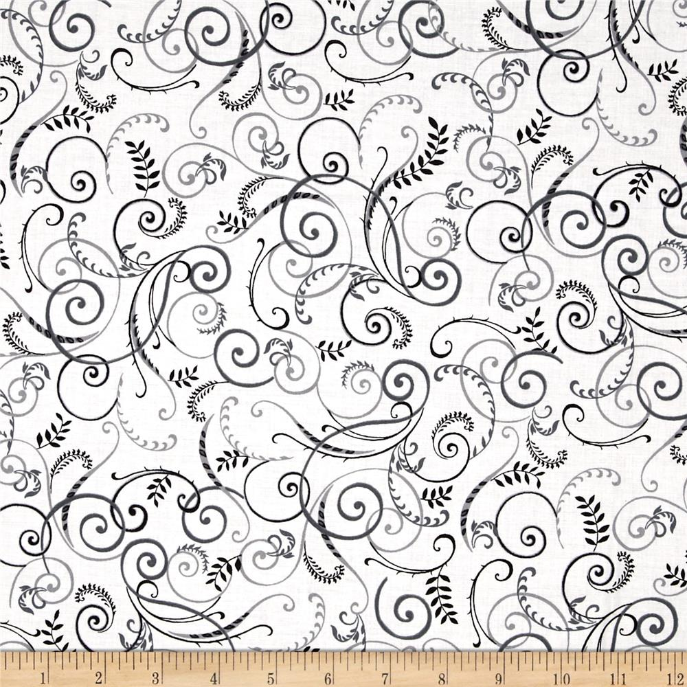 Black, White & Currant 6 Swirl White/Grey