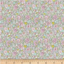 Liberty of London Classic Tana Lawn Amelie Roses Lime/Pink/Yellow