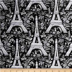 Michael Miller Eiffel Tower Laminated Cotton Black/White