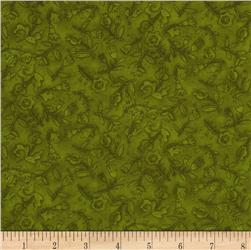 Moda Round Robin Flower Toss Fiddlehead Green