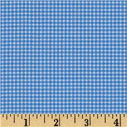 Michael Miller Mini Mikes Tiny Gingham Blue Fabric