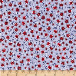 Prairie Yard Goods Mini Floral Blue