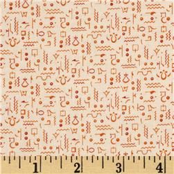 Egypt Hieroglyph Orange
