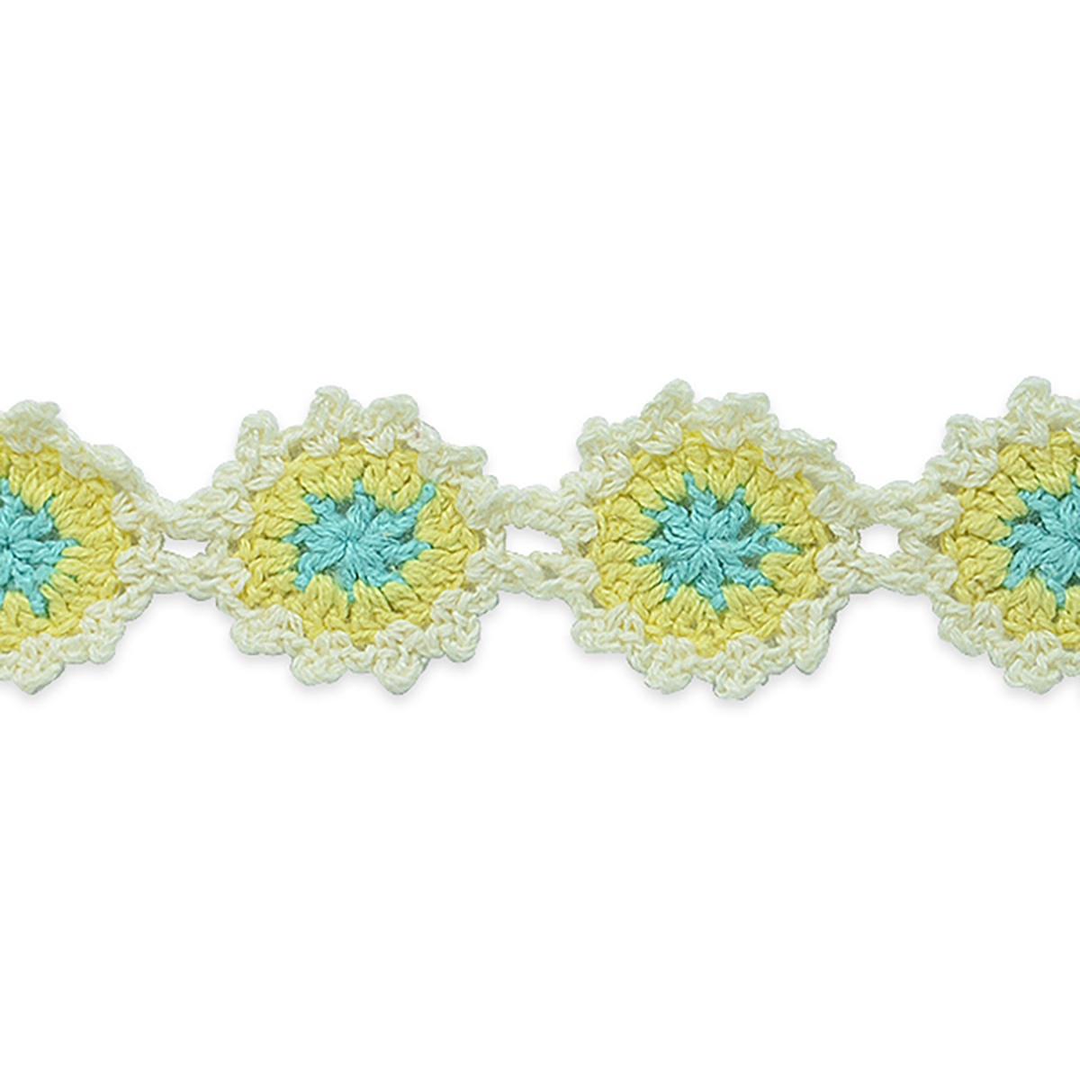 Crochet Flower Trim Yellow