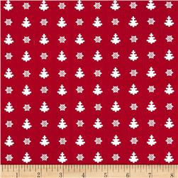 Winter Essentials II Mini Tree Red Fabric