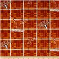 Collegiate Cotton Broadcloth University of Texas Plaid Burnt Orange