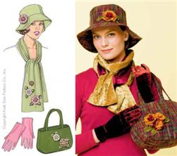Kwik Sew Hat, Bag,Shawl, Gloves & Flower Pattern