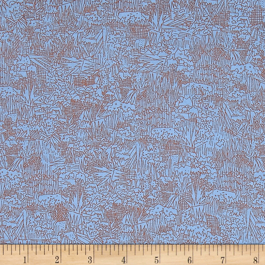 Kaufman Friedlander Collage Blue Jay Fabric