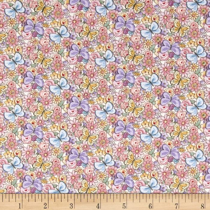 Sunbonnet Emma & Friends Butterflies & Flowers Cream
