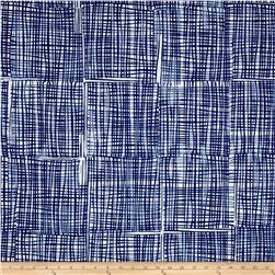 Kaufman Marks by Valori Wells Grid Plaid Indigo