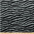 Animal Print Soft Fur Zebra Black/Grey