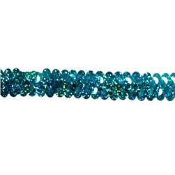 Stretch 7/8'' Holographic Sequin Trim Turquoise