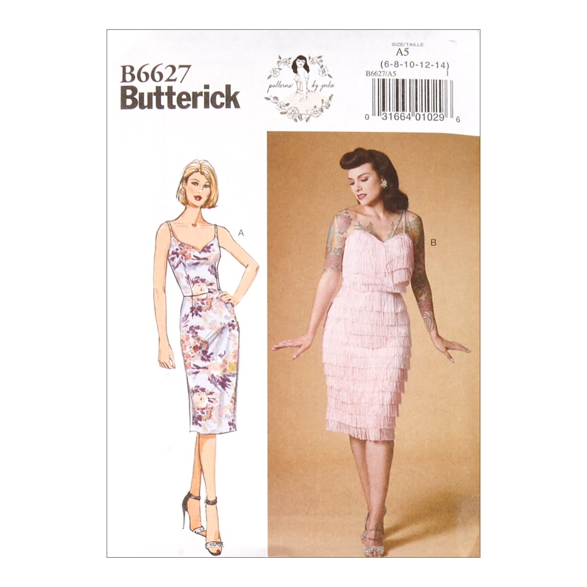 1950s Sewing Patterns | Dresses, Skirts, Tops, Mens Butterick B6627 Patterns by Gertie Misses Dress A5 Sizes 6-14 $12.57 AT vintagedancer.com