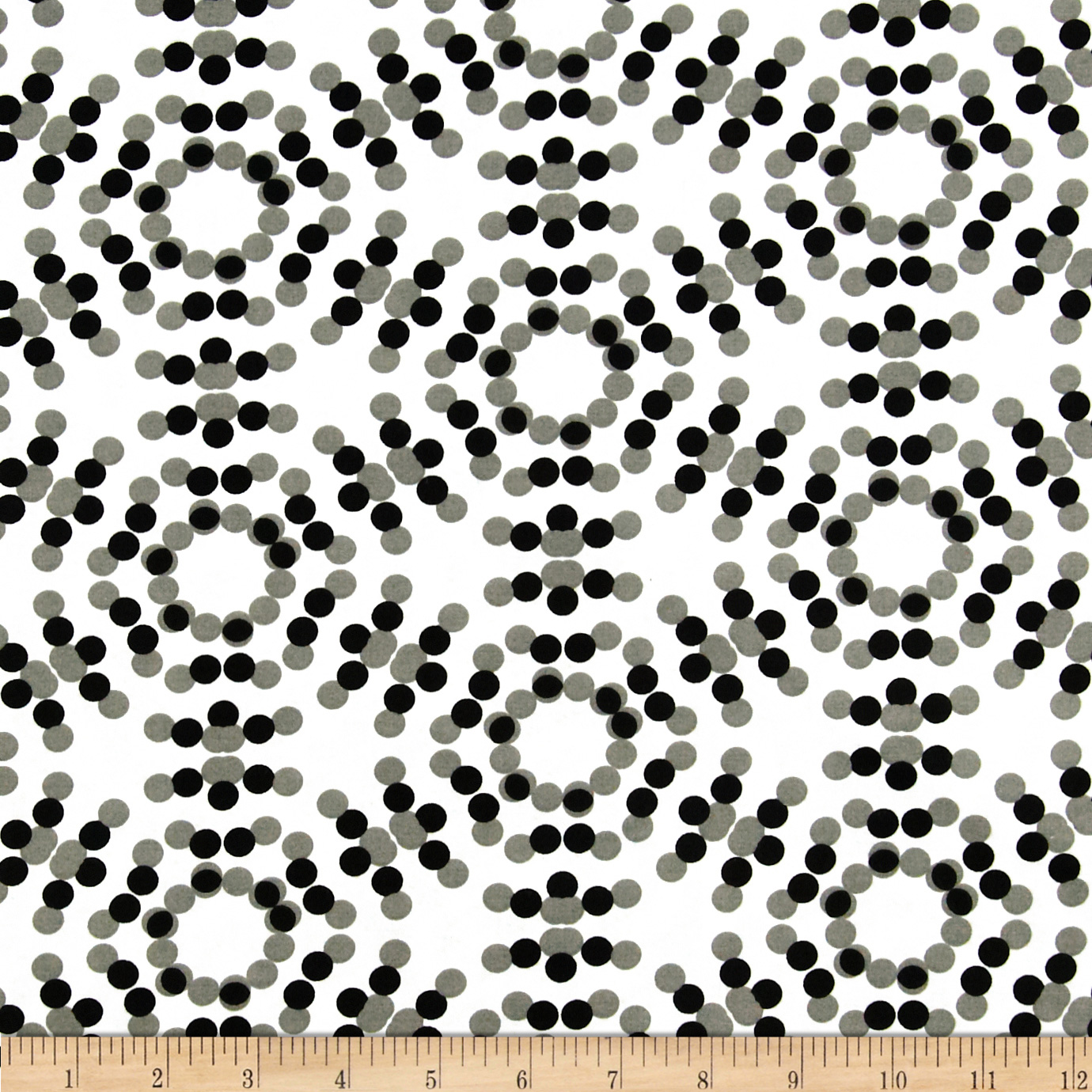 108'' Spot On Quilt Backs Circle Dots Grey
