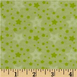Little Nursery Flannel Stars Green
