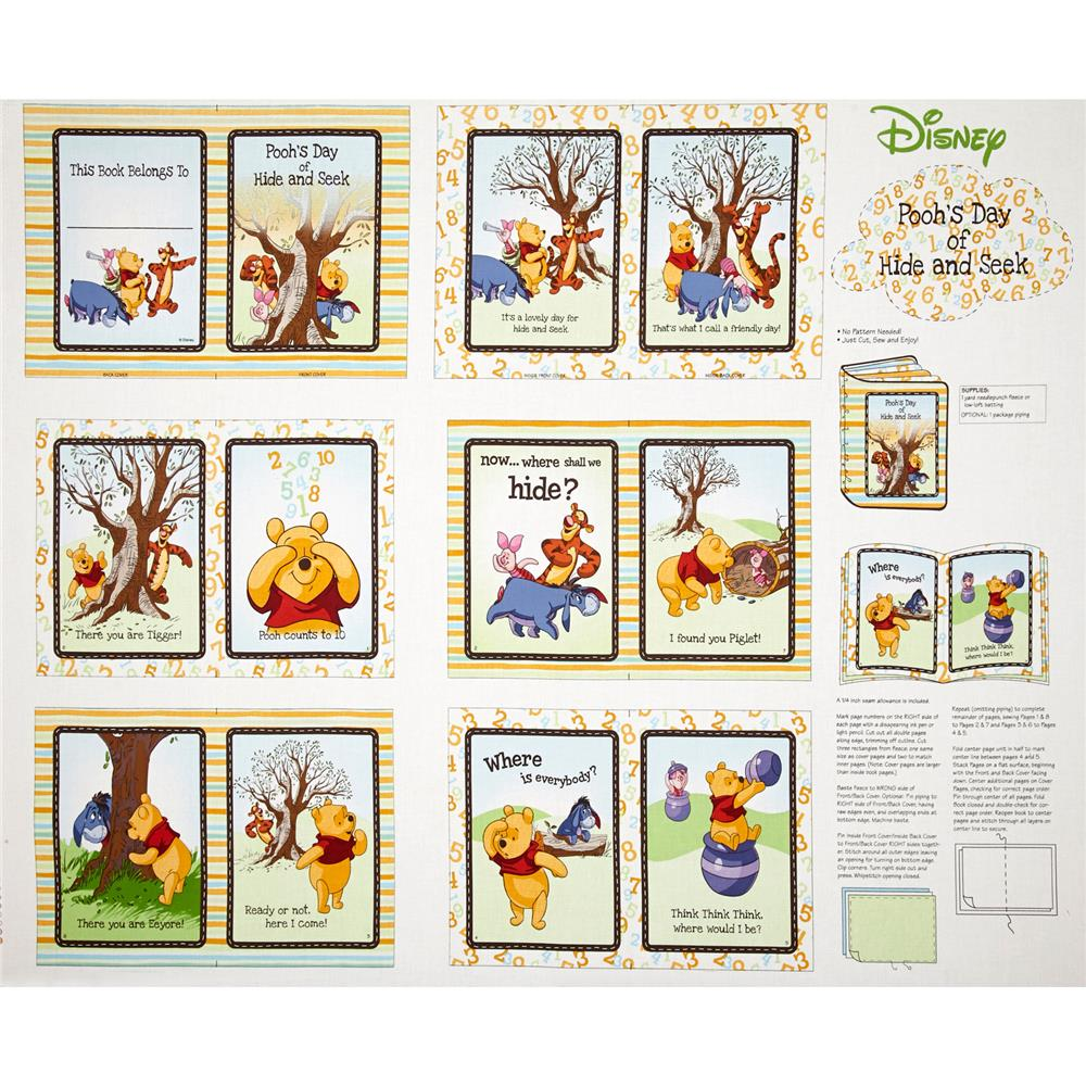 Disney Pooh Nursery Peekaboo Soft Book Multi