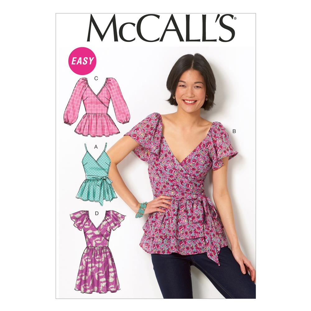 McCall's Misses' Tops, Belt and Tunic Pattern M6961 Size A50