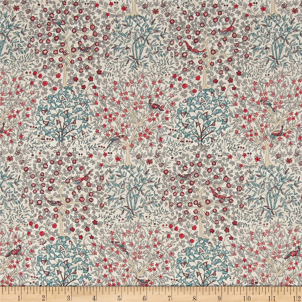 Liberty of London Classic Tana Lawn Jess and Jean Red/Multi