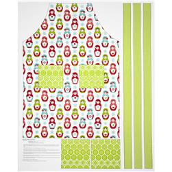 Riley Blake Merry Matryoshka Apron Panel Green