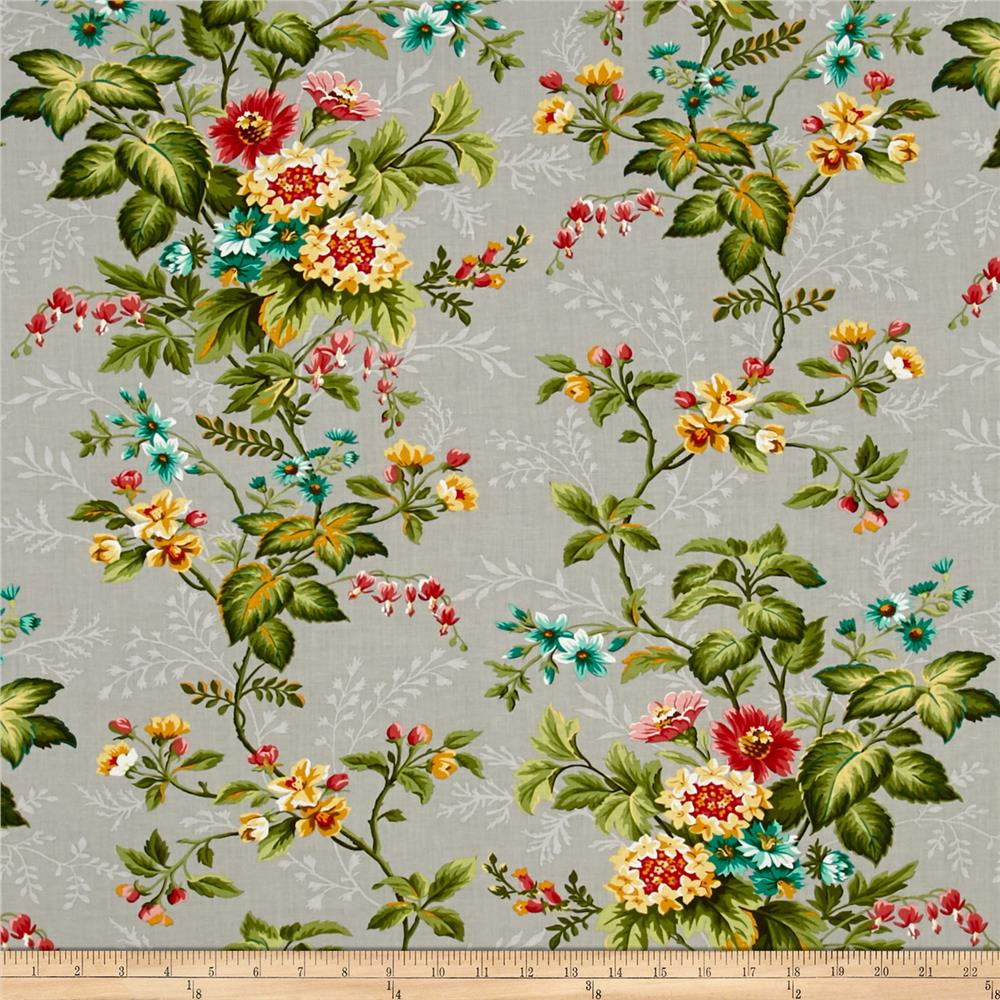 Village Garden Large Floral Gray