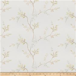 Fabricut Linen Embroidered Twill Brookdale Opal