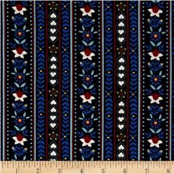 Mary Fons Small Wonders Germany Digital Print Floral Stripe Black