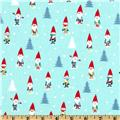 Michael Miller Holiday Many Mini Gnomes Blue