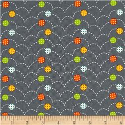 Moda Here Boy! Bouncy Balls Grey Fabric