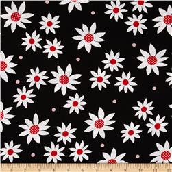 Steppin' Out Daisies Black