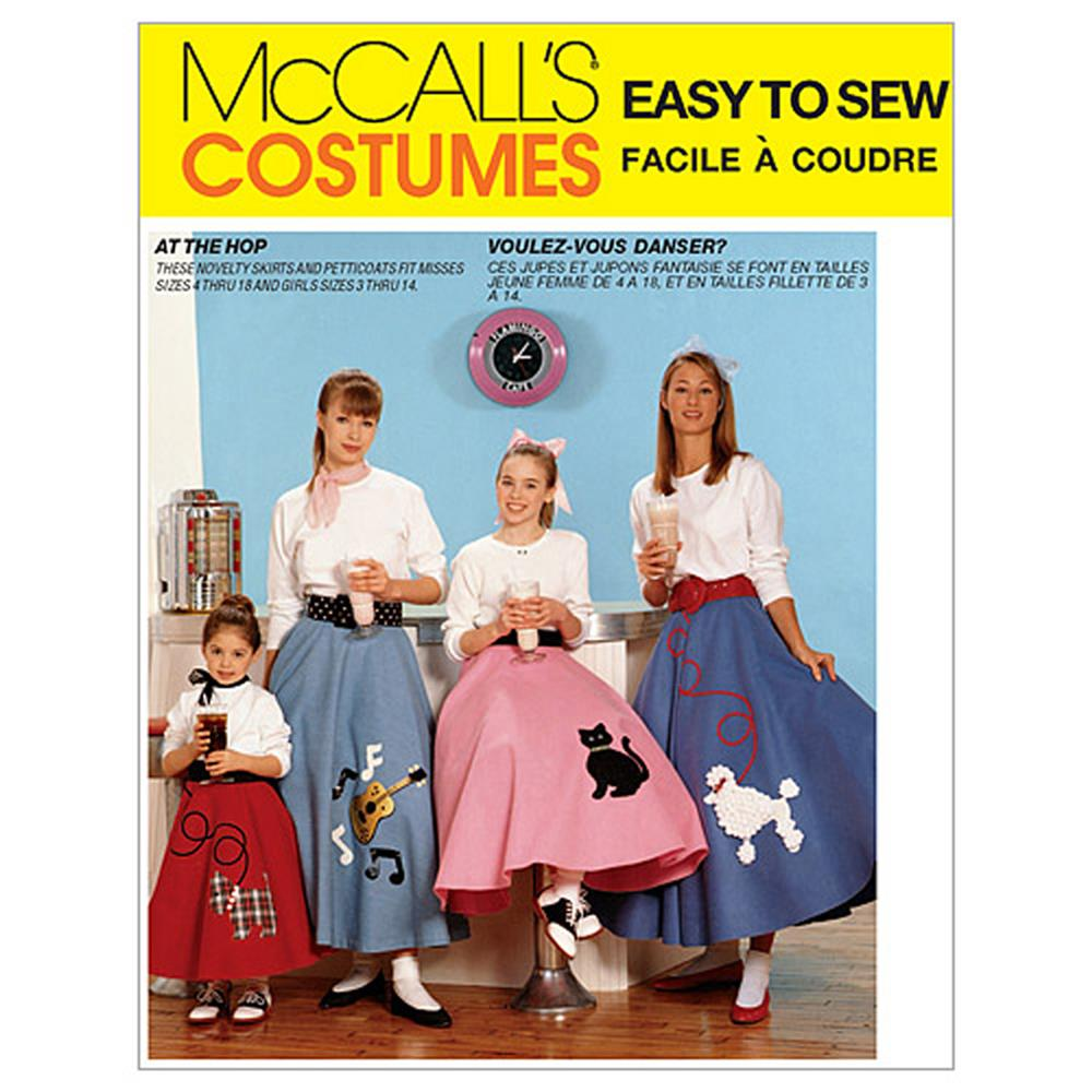 McCall's Children's/Girls'/Misses' Pull-On Skirt and Petticoat Pattern M6101 Size CHILD
