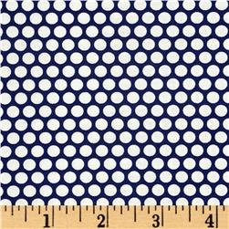 Moda Basics Bliss Dot Vintage Picnic Navy
