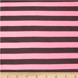 Chiffon Print Stripes Black/Pink