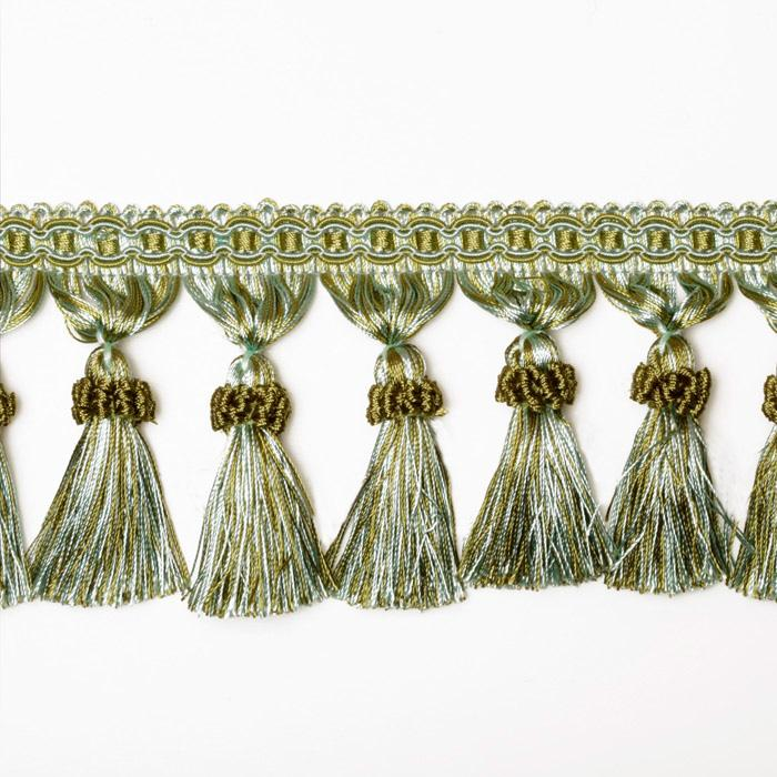 Decorative Trim Regal Tassel Fringe Aqua/Olive