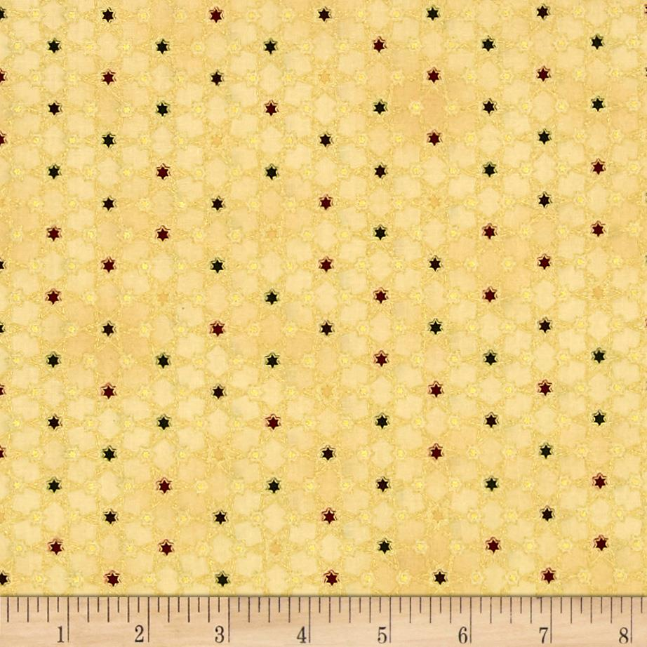 Magical Moments Gold Metallic Attached Stars Beige