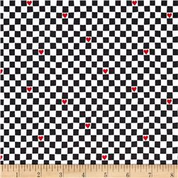 Going Steady Checkerboard Hearts Charcoal