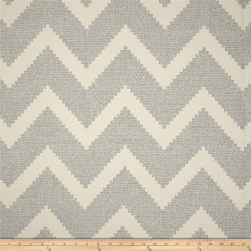 P Kaufmann Indoor/Outdoor Chevron Jacquard Carrara Grey