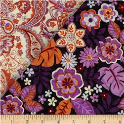 Cassandra Double Sided Quilted Orange/Pink Fabric