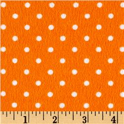 Timeless Treasures Flannel Dot Melon