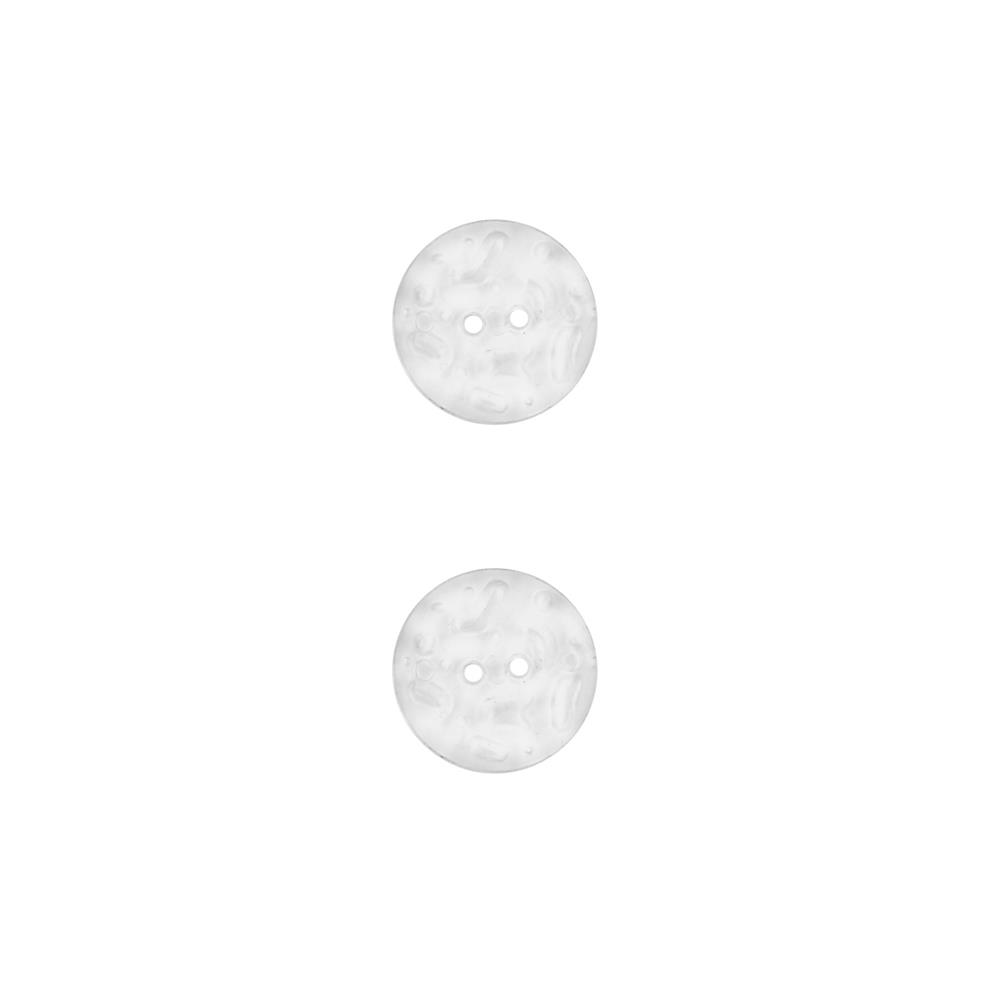 Dill Novelty Button 5/8''  Bubbled Transparent