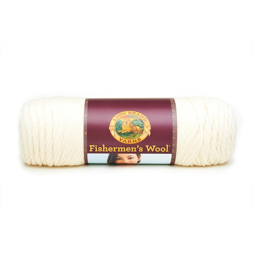 Lion Brand Fishermen's Wool Yarn (098) Natural