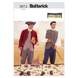 Butterick Historical Costume (Coat, Vest, Shirt, Pants and Hat) Pattern B3072 Size 320