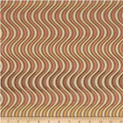 Lavish Metallic Swirl Stripe Spice