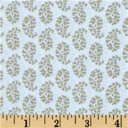 Joyful Leaf Paisley White/Tan