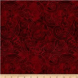 "Essential Dotty Waves 108"" Wide Quilt Back Red"