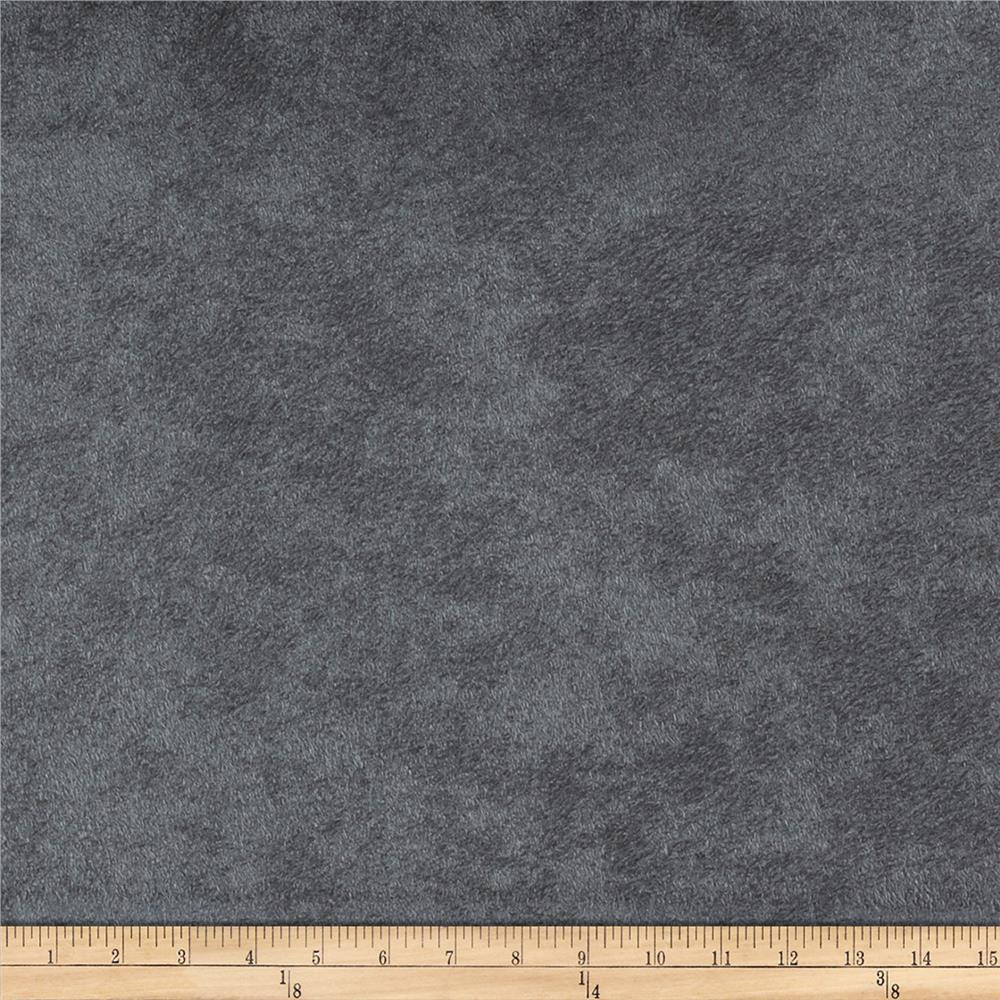 Morgan Fabrics Passion Faux Suede Charcoal Discount